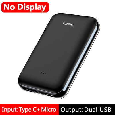 10000mAh Power Bank - NO LED Black