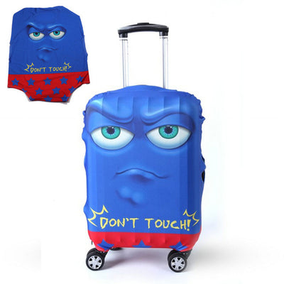 Varicolored Suitcase Protective Cover - Angry Blue / S
