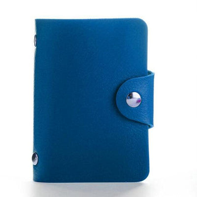 PU Leather Card Holder - Blue