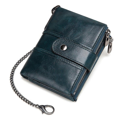 Genuine Leather RFID Wallet - With Chain [200000195] / China