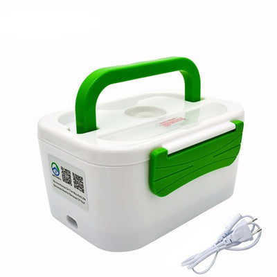 Portable Electric Heating Lunch Box - 220V Green