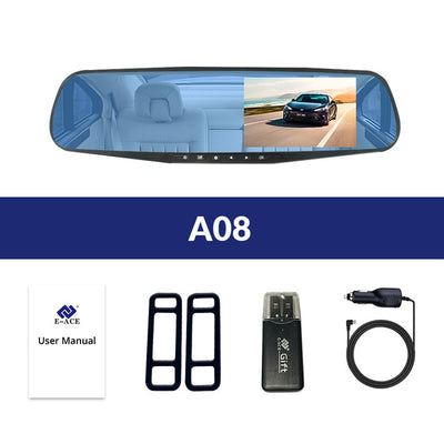 Car Rear View Mirror With Camera - A08 / With 8G TF Card