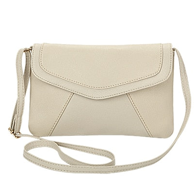 Vintage Leather Crossbody Bags - Beige