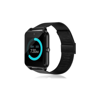 LED Touch Screen Bluetooth Smart Watch - Black