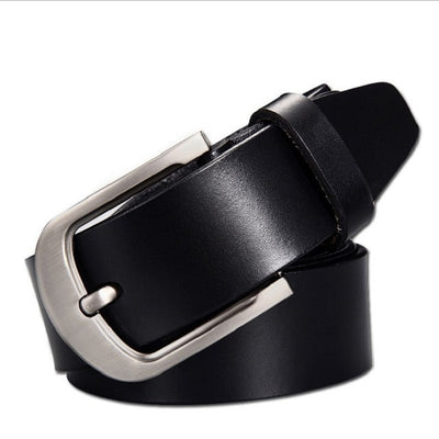Men's Leather Belt - Black / 110cm