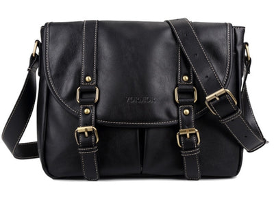 Leather Bag for Men - Black