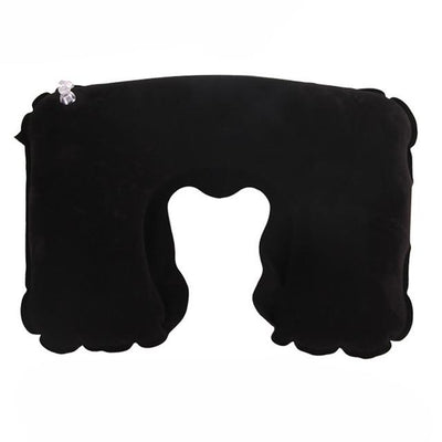 Air Cushion Neck Pillow - Black / 26.5cm x 44cm