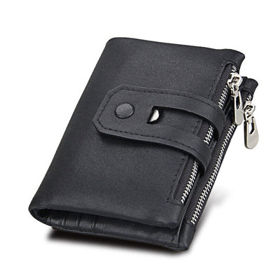 Leather Wallets for Women - Black