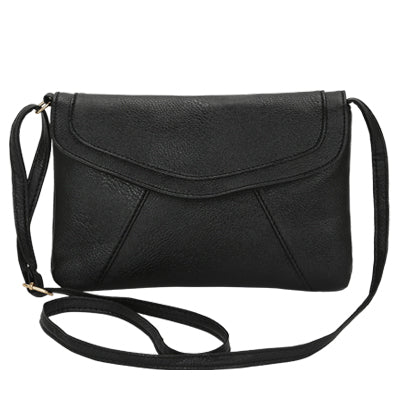 Vintage Leather Crossbody Bags - Black