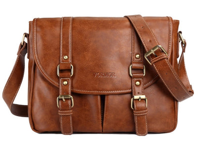 Leather Bag for Men - Brown