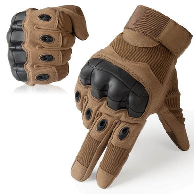 Touch Screen Tactical Gloves - Brown / S