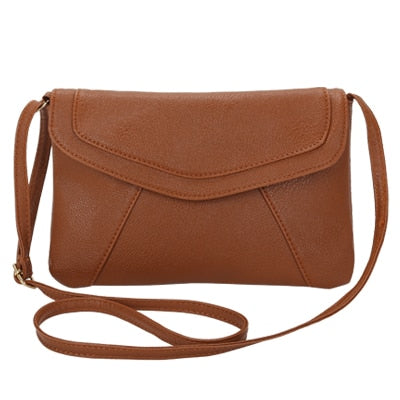 Vintage Leather Crossbody Bags - Brown