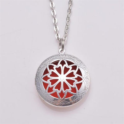 Essential Oil Diffuser Filigree Necklace - Style 1