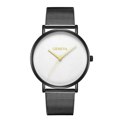 Stainless Steel Quartz Wrist Watch - A