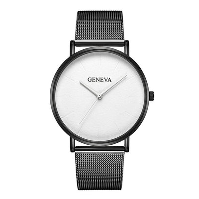 Stainless Steel Quartz Wrist Watch - B