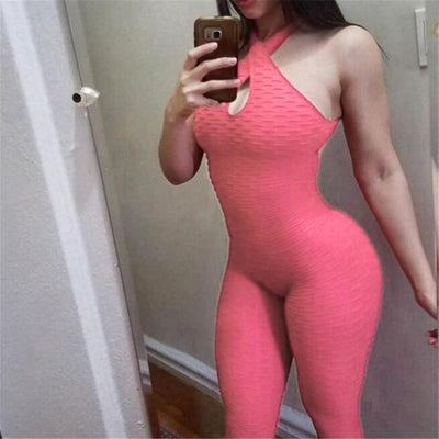 Anti-Cellulite Textureflex Bodysuit - Pink / S