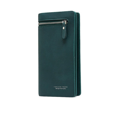 Leather Wallet for Women - Green