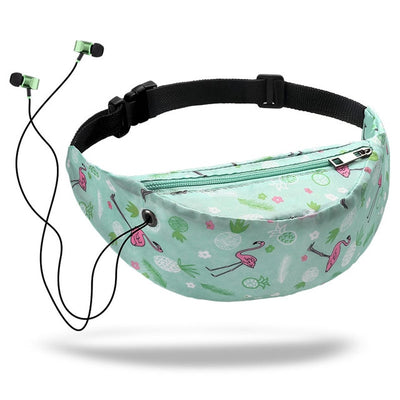 Colorful Waist Bag For Women - Green