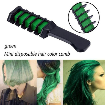 Colorful Hair Dye Comb - Green