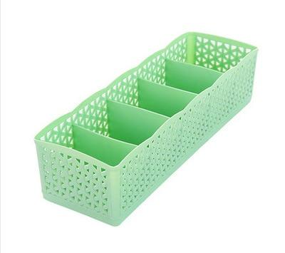 5 Grids Storage Boxes - Green