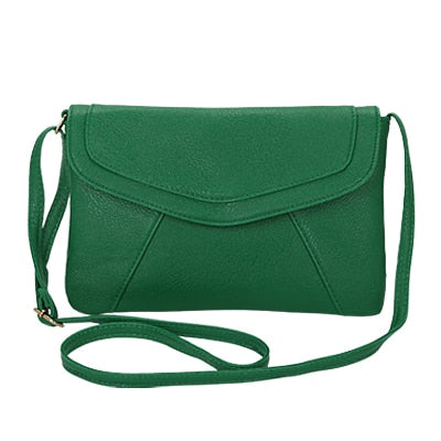 Vintage Leather Crossbody Bags - Green
