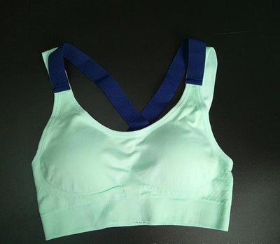 Fitness Yoga Push Up Sports Bra for Women - Green / XL