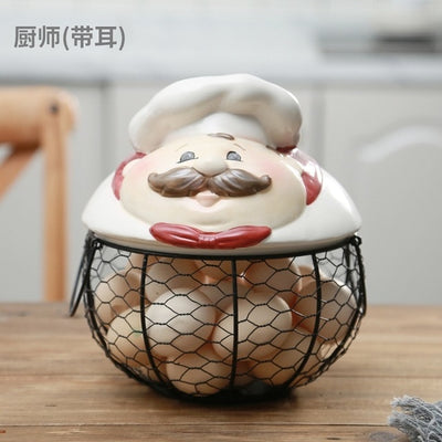 Ceramic Egg Holder - Chef