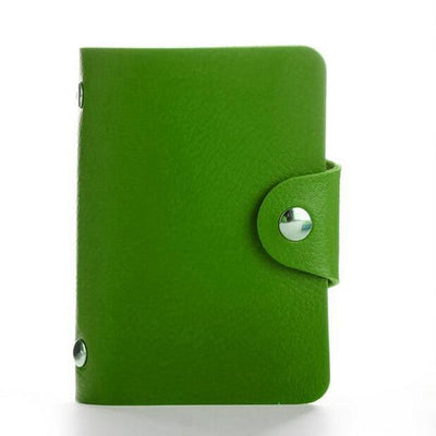 PU Leather Card Holder - Green