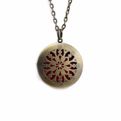 Essential Oil Diffuser Filigree Necklace - Style 3