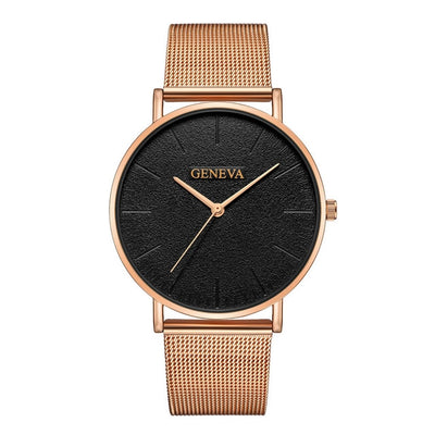 Stainless Steel Quartz Wrist Watch - G
