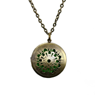 Essential Oil Diffuser Filigree Necklace - Style 4