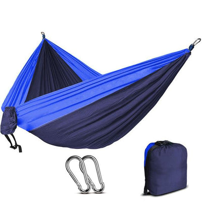 2 Person Outdoor Camping Nylon Hammock - Royalblue and Blue