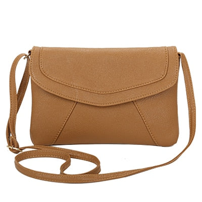 Vintage Leather Crossbody Bags - Khaki