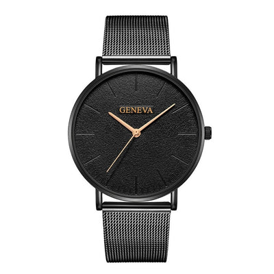 Stainless Steel Quartz Wrist Watch - J