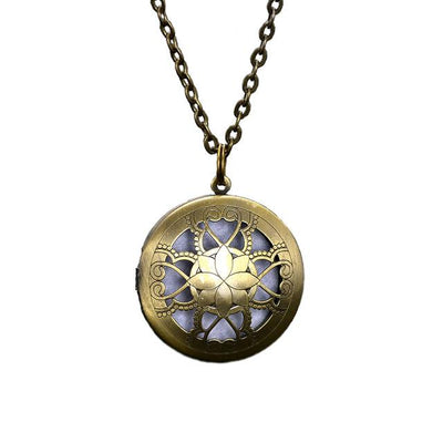 Essential Oil Diffuser Filigree Necklace - Style 10