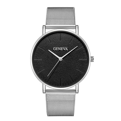 Stainless Steel Quartz Wrist Watch - M