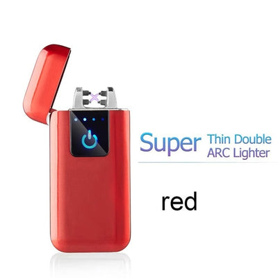 USB Electronic Cigarette Lighter - super thin red