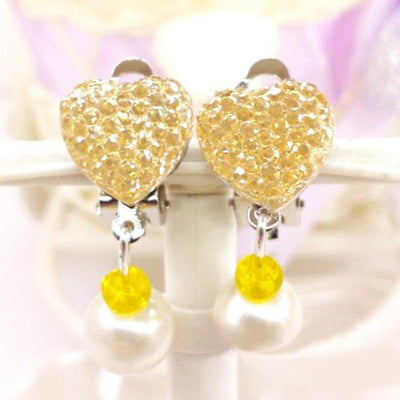 Rhinestone Clip-On Earrings