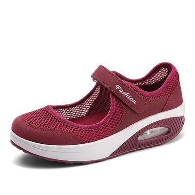 Women Flat Shoes - Red / 5