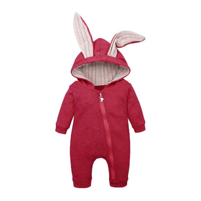 Bunny Rompers For Baby - Red / 3M