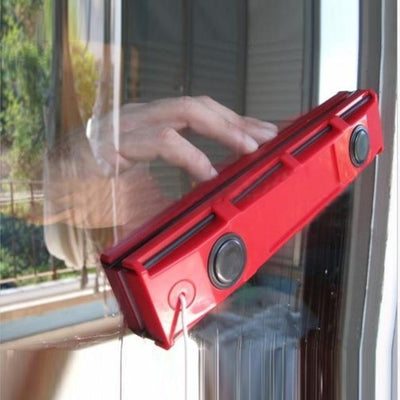 Magnetic Window Cleaning Glider - Red