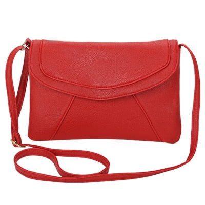 Vintage Leather Crossbody Bags - Red
