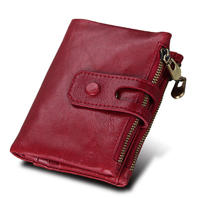Leather Wallets for Women - Red