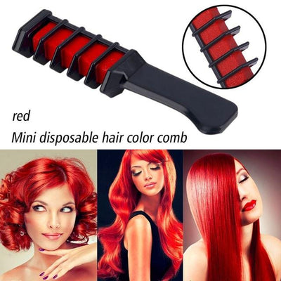 Colorful Hair Dye Comb - Red