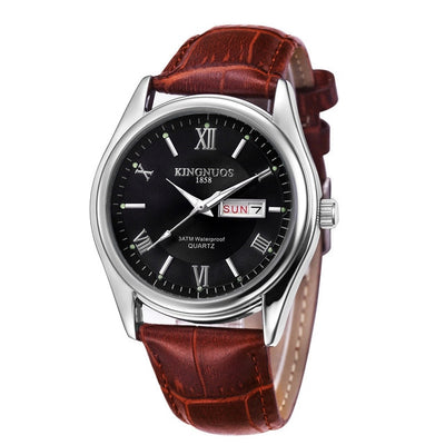 Mens Watches - Brown Leather black