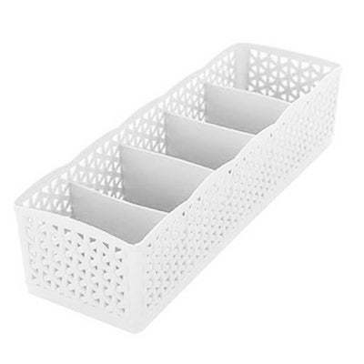 5 Grids Storage Boxes - White