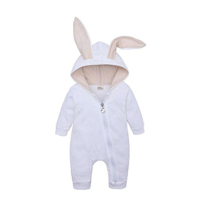 Baby Rompers - White / 3M