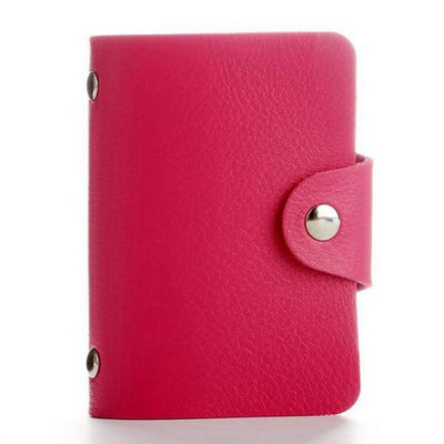 PU Leather Card Holder - Pink