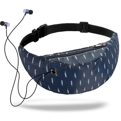 Colorful Waist Bag For Women - Dark Blue