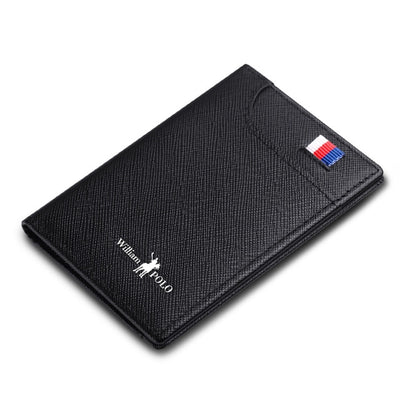 Mens Slim Leather Wallet - black